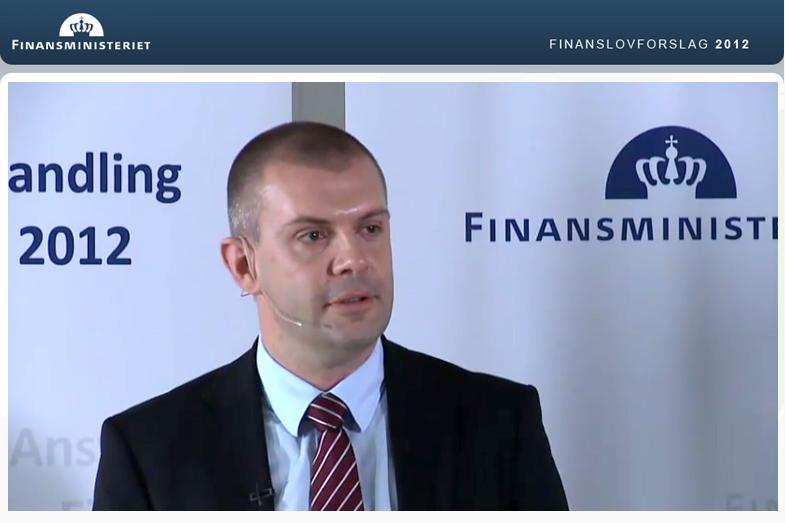 Poul Gozzi referencer Finansministeriet webdesign Forslag til finanslov 2012
